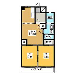 桜ビルディング[4階]の間取り