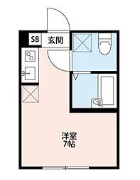 SQX(エスキュークロス)[1階]の間取り