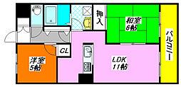 新風館 201号室[2階]の間取り