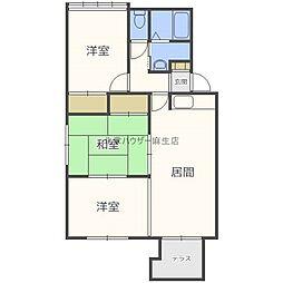 J・HOUSE新川[1階]の間取り