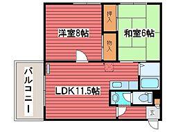 北山荘[3階]の間取り