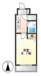 CASTLEワタナベ[5階]の間取り