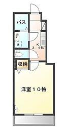 岡山県岡山市中区さいの賃貸アパートの間取り