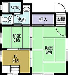 大賀マンション[3階]の間取り