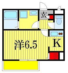 千葉県習志野市大久保3丁目の賃貸アパートの間取り
