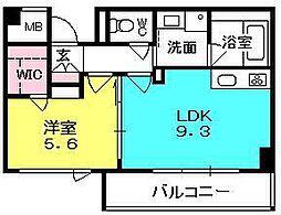 ブルーノ夙川レジデンス[502号室]の間取り