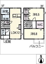 [タウンハウス] 愛知県豊田市小坂町4丁目 の賃貸【愛知県 / 豊田市】の間取り