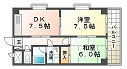 Residence塚口[4階]の間取り