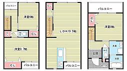 [タウンハウス] 大阪府豊中市東泉丘1丁目 の賃貸【/】の間取り