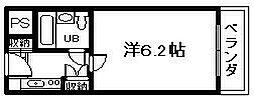 ユニデンス貝塚[4階]の間取り