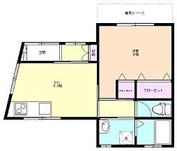 朝霞 賃貸アパート ソフィーラメゾン 101号室[1階]の間取り