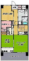 ミオカステーロ横濱吉野町ステーションフロント[806号室号室]の間取り