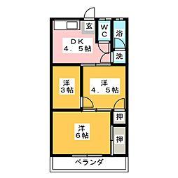 コーポ真鈴[2階]の間取り