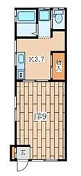 神奈川県横浜市旭区白根3丁目の賃貸アパートの間取り