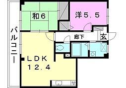 フォブールK&N[202 号室号室]の間取り