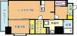 CityCourt折尾(シティコート折尾)[10階]の間取り