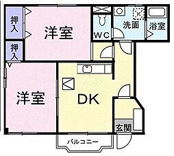 HKソレイユ A[0101号室]の間取り
