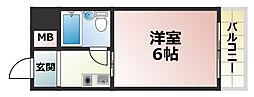 メゾン・ド・六甲パートⅠ[4階]の間取り