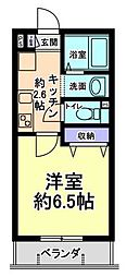 神奈川県川崎市多摩区栗谷1丁目の賃貸マンションの間取り
