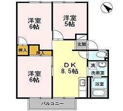 フレグランスAP[2階]の間取り