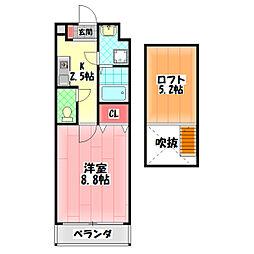 Osaka Metro谷町線 千林大宮駅 徒歩8分の賃貸マンション 3階1Kの間取り