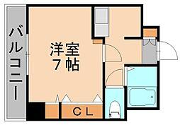 エステート博多駅南ハウス[6階]の間取り