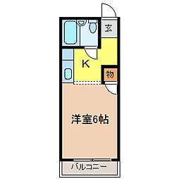 ハイツタキタニ[205号室]の間取り
