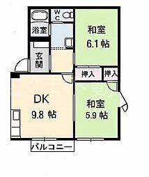 屋島フレグランスC[1階]の間取り