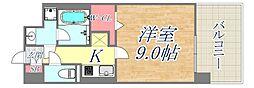 Cherir六甲道 2階1LDKの間取り