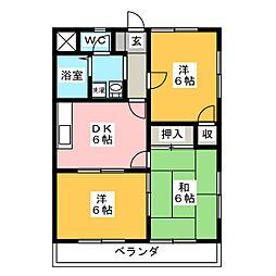 レジデンスYSR[3階]の間取り