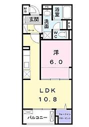 JR中央線 八王子駅 バス19分 宇津木下車 徒歩8分の賃貸マンション 1階1LDKの間取り