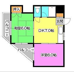レヂオンス清瀬[1階]の間取り