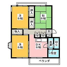 シャイニング21[3階]の間取り
