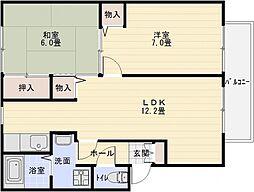 エトワールコート B棟[2階]の間取り
