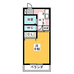 K−1ビル[2階]の間取り
