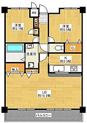 オーベル大宮櫛引[13階]の間取り
