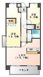 サニーコート江坂II[3階]の間取り