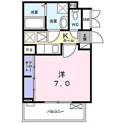 大阪府大阪市東成区大今里西3丁目の賃貸アパートの間取り