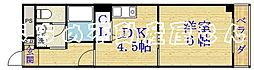 メゾン城北[4階]の間取り