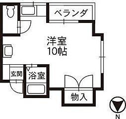 メゾン御経塚[203号室]の間取り