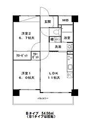 エスタブレ・ヤマキ[0407号室]の間取り