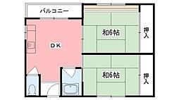 甲林ビル[205号室]の間取り