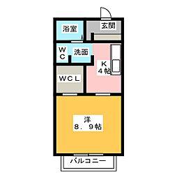 エクセレン中央[1階]の間取り