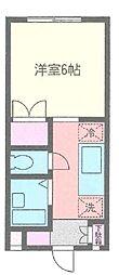ロイヤルヒルズ石室[208号室]の間取り