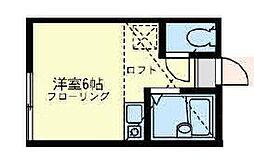 ユナイト六浦 フェルメール[1階]の間取り