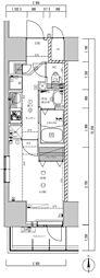 ライジングプレイス亀戸[13階]の間取り
