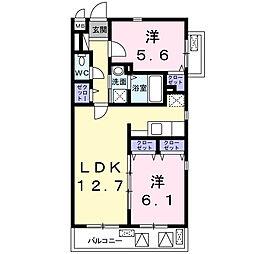 神奈川県川崎市麻生区王禅寺西6丁目の賃貸マンションの間取り