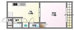 アニマート姫島[5階]の間取り