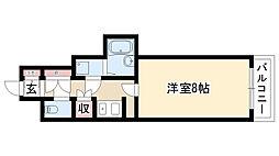 愛知県名古屋市瑞穂区下山町1丁目の賃貸マンションの間取り