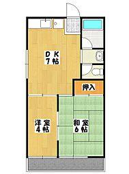 メゾントーカギ[1階]の間取り